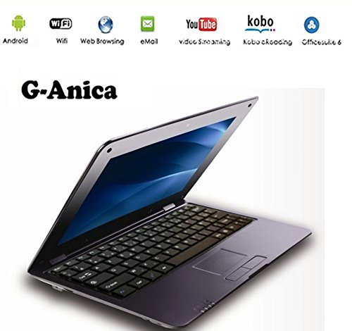 G Anica 10 Netbook/Laptop/Ultrabook, with Android 5.0, HDMI, Display: 25.4 cm (10 Zoll), WLAN, SD, MMC black black 25,4 cm