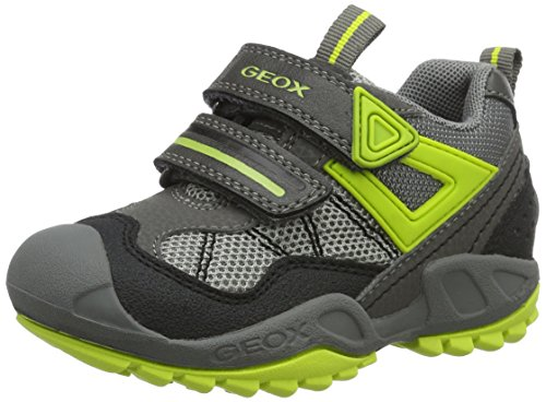 Geox Jungen J New Savage Boy A Low-Top Grau (Grey/limec0666)