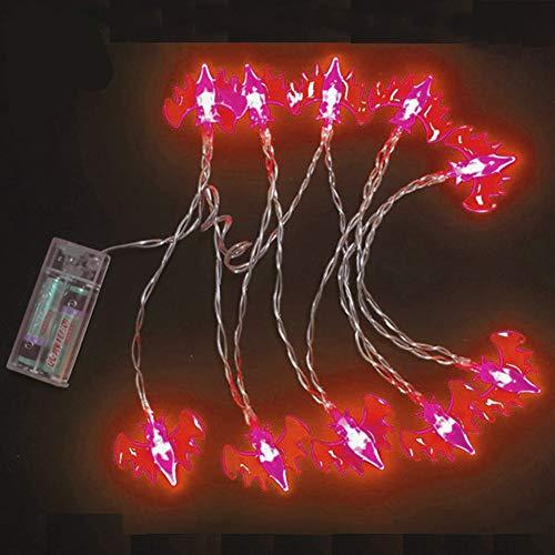 (Sel-More Halloween Fledermäuse String Lichter - Urlaubsparty Lichter, Batteriebetriebene LEDs Multi Color Spider Lichter für Indoor Outdoor Dekorationen)