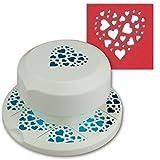 Artoz fliegender Stanzer | Herz mit kleinen Herzen | Frei positionierbarer Kartenstanzer | Stanze-Locher zum Kartenbastels für Geburtstage Kartenbasteln, Einladungen und vieles mehr!