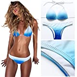 Bikini Push Up Bademode Bikinis Damen DAY.LIN Frauen Padded Push-up Bikini Set Badeanzug Badeanzug Bademode Beachwear Damen Farbverlauf Bademode (XL/EU40)