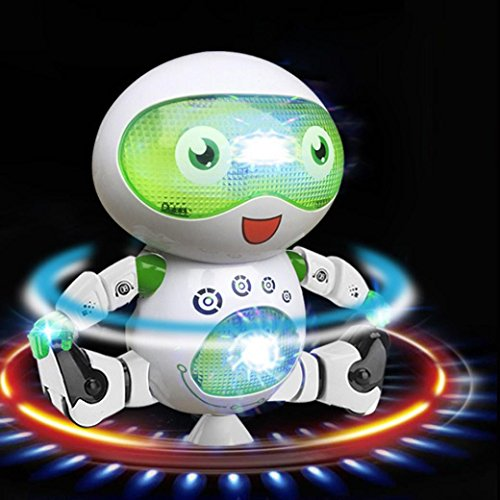 Musik Licht Roboter Für Geschenk, Sansee Elektronisches Tanzen Walking Smart Space Astronaut Musik Licht Roboter Spielzeug Für Kinder (22*16.5*3.5 CM, (Kostüm Cowboy Space)