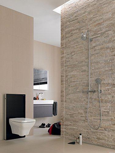 Geberit Spülmechanismus/Cist. Vista-Monolith WC KB04unten Glas schwarz Aluminium