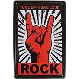 Tune Up, Turn Loud, Rock, métal vintage Plaque de porte ou plaque murale