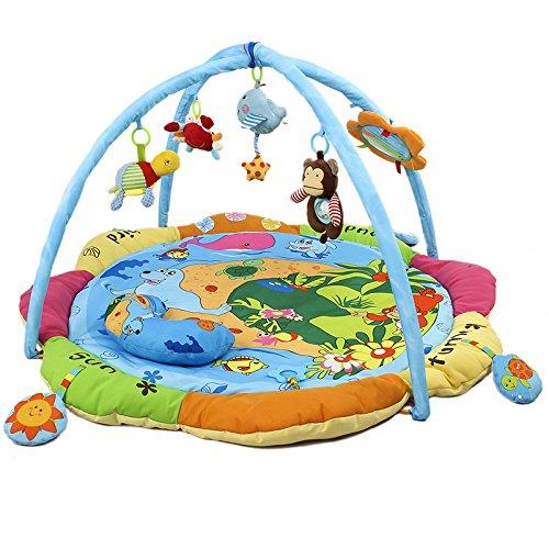 Misslight Activity Gym Baby Spielbögen Spielmatten Musical Play Mat Boden Erlebnisdecke mit Soft Spielzeug Hanging Spielzeug (Style1) Activity Play Gym