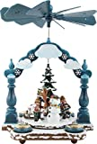 Weihnachtspyramide 1-stöckige Pyramide Winterkinder 35 x 25cm - Original Erzgebirge - Hubrig Volkskunst