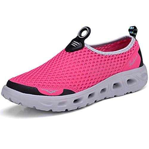Eagsouni® Unisex-Erwachsene Sommer Breathable Mesh Schuhe Laufschuhe Strandschuhe athletische Turnschuh #2RoseRot
