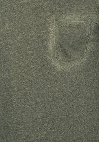 !Solid Them Herren Longsleeve Langarmshirt mit V-Auschnitt Aus Hochwertiger Baumwollmischung Meliert Climb Ivy (3785)