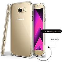 Lucklystar® Carcasa para Samsung Galaxy A7 2017 Slim Transparente TPU Silicona Funda Anti-Rasguño Anti-Golpes Protective Case para Samsung Galaxy A7 2017(1PCS)