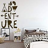 JJHR Stickers Muraux Voyage Garçons Chambre Décor Aventure Sticker Mural Woodland Pépinière Stickers Muraux Aventure Enfants Chambre Décor Mural 42 * 65 Cm