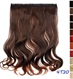 Prettyland - DQ138 50 cm lange Volumen gewellt one-piece Clip-In-Extensions Haarverlängerung Haarteil - 4T30