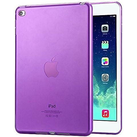 FAS1 iPad Air 1 Funda, Nueva Transparente Suave TPU Silicona Carcasa Trasera Protector Para Apple iPad Air 1/iPad 5 (Morado)