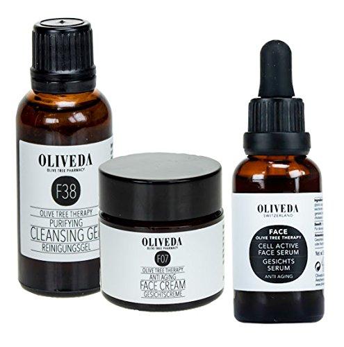 Oliveda Anti Aging Serum (30ml) + Anti-Aging Creme (30ml) + Reinigungsgel (30ml)