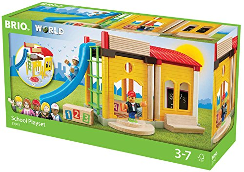 BRIO World 33943 - Village Schule, bunt
