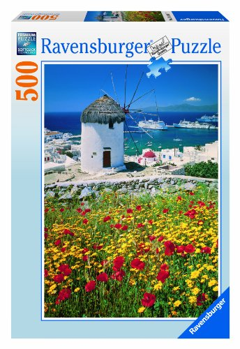 Ravensburger 14148 Faro a Santorini Puzzle 500 Pezzi