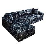 cineman Funda de sofá en Forma de L, cómoda Funda de sofá esquinero, elástica, Antideslizante, cojín de protección para Interior