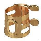 yibuy ton doré plaqué or cuivre Embouchure pour saxophone alto ...