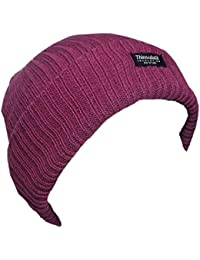 Ladies Rib Knit Chunky Beanie Hat Thinsulate 3M Available In 6 Colours One Size