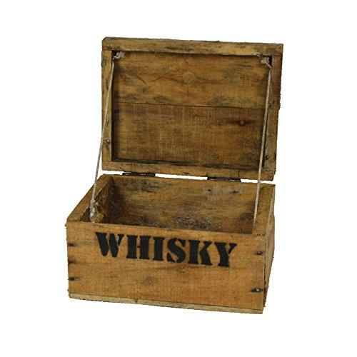 Whisky Kiste (Whisky Holzkiste, mini (21x27x14,5cm), Vintage, Weinkiste, Obstkiste mit Deckel und Aufdruck)