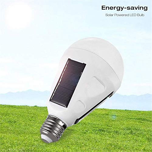 Yomric portablesolar powered light lampadina a led, e27 lampada a led lampada di emergenza per outdoor campeggio da campeggio escursionismo tenda - ricaricabile e ip65 impermeabile (edition : 7w)