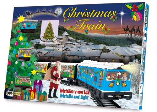 PEQUETREN Pequetren200 Christmas Metallic Model Train  with Light