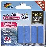 Abflussfee Duftstein 00342 Durftsteine für den verschlussstopfen, Meeresbriese, blau, 4 Stück