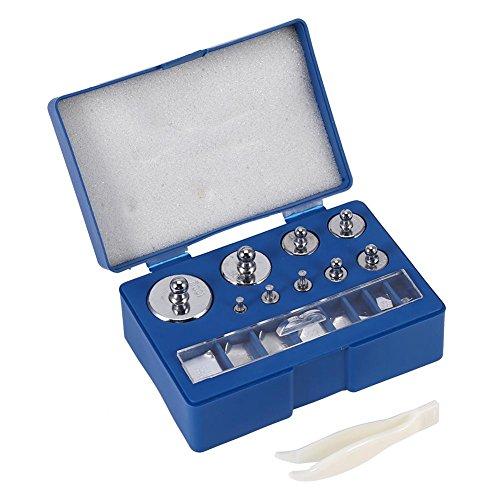 Peso de calibración, 17 unidades, 10 mg-100 g, juego de peso, precisión - Total de 211,1 g para balanzas de joyas