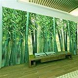 Fototapete Foto Benutzerdefinierte Wandbilder Tapete -3D Green Bamboo Forest Foto Wand Tuch-Wohnzimmer Tv Sofa Hintergrund Wandmalerei, 250Cmx175Cm