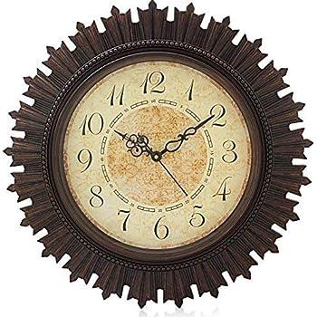 KITCHINDRA Home Paradise Steven Quartz Rdx Sns Creations Round Wall Clock (Brown)