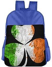 Preisvergleich für Lovely Schoolbag Irish Flag Shamrock Cool Design Children School Backpack Carry Bag for Kids Boy Girls