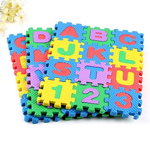 ETbotu,Puzzle Schaum Matte,36 Teile / Satz Baby Kind Anzahl Alphabet Mathematik Pädagogische Spielzeug,
