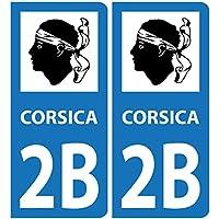 Autocollant Corsica 2B Plaques Voiture