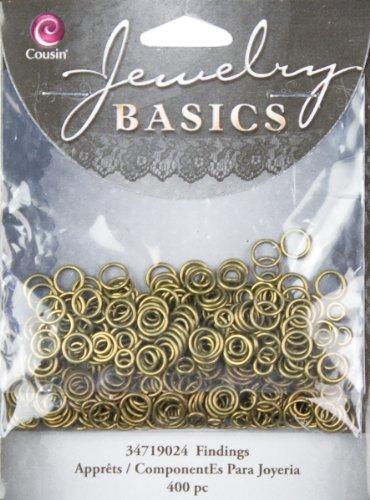 Cousin Jewelry Basics '400tlg öffnen/schließen Jump Ring eine Gold, 4/6 (Jump Programm)