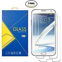 [2 Pack] Pellicola Vetro Temperato Samsung Galaxy Note II GT-N7100 / 7100 - Schermo Antiurto Antigraffio