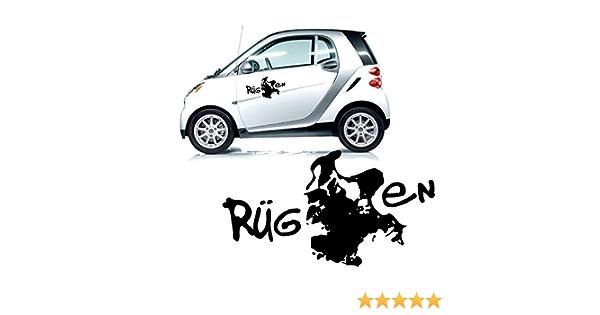 Rügen Autotattoo Sticker Aufkleber Silhouette Insel Rügen Ostsee Fahrzeugsticker Heckscheibe Kb568 Auto