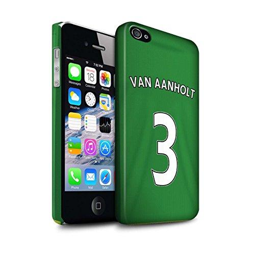 Offiziell Sunderland AFC Hülle / Matte Snap-On Case für Apple iPhone 4/4S / Pack 24pcs Muster / SAFC Trikot Away 15/16 Kollektion Van Aanholt