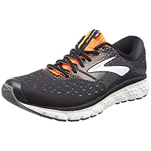 Brooks Herren Glycerin 16 Laufschuhe, Black/Orange/Grey