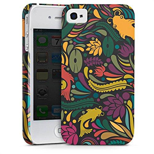 Apple iPhone X Silikon Hülle Case Schutzhülle Flower Fische Muster Premium Case glänzend