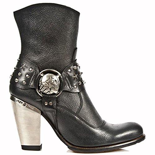 New Rock Bull Schwarz Stiefel M.7988-S5 BLACK, BLACK
