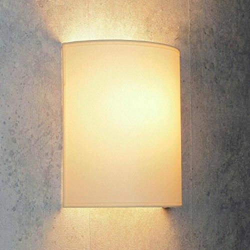 Wandleuchte Loft/im modern Stil/creme/Stoffschirm/1x E27 bis max. 60W 230V/Wandlampe innen kompakt/Beleuchtung Wohnzimmer Schlafzimmer