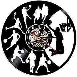 """Lyy 12 """" Jugar Baloncesto Golpe Remojar Vinilo Reloj Pared Vendimia Moderno Lp Hecho A Mano Regalo Decoración"""