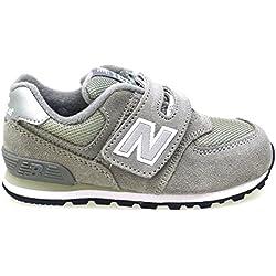 Zapatos Niño Casual Sneakers New Ballance Kv574 Gris 23