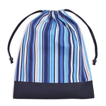 Cambio di vestiti facilmente borsa (grande formato), abbigliamento da palestra borsa Ocean Breeze x tela, blu scuro made in Japan N3347400 (japan