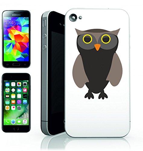 Smartphone Case Sowa-Wild Gufo Uccello Uccelli della penna del becco dell animale domestico del anonim owany di una favola di animali di bestie per Apple Iphone 4/4S, 5/5S, 5C, 6/6S, 7& Samsung G