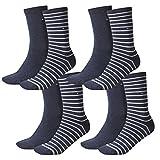Tommy Hilfiger Damen Socken Small Stripe Casual Socken 4er Pack, Größe:35-38, Farbe:Jeans (356)