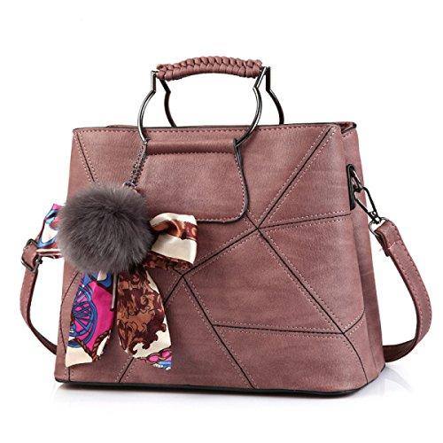 bd33e793bea12 Frauen Mode Geometrie Bogen Crossbody Top-Griff Schultertasche Tote  Handtaschen Multicolor Pink ...