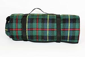 Picknick-Decke in Schottenkaro in grün, rot, gelb, blau, 173 cm lang