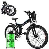 Bunao Bicicleta eléctrica de montaña, Batería 36V 8AH E-Bike 7 Sistema de Transmisión de...
