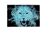 Wamnu Leopard Animal Large Area Rugs,Dirty Children's Carpets for Living Roooms,Bedrooms,Children's Doormats