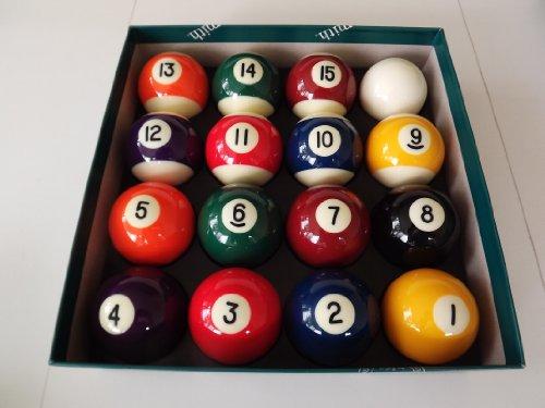 Set of Quality - Juego de bolas de billar (5 cm de diámetro, bola blanca de 4,7 cm de diámetro)